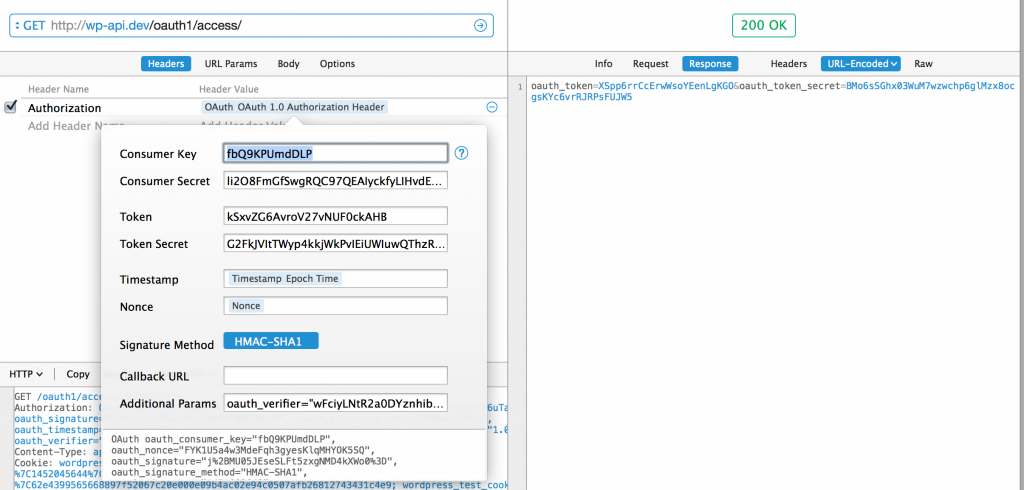 Add oauth_verifier and request /oauth1/access/ and get the new tokens.