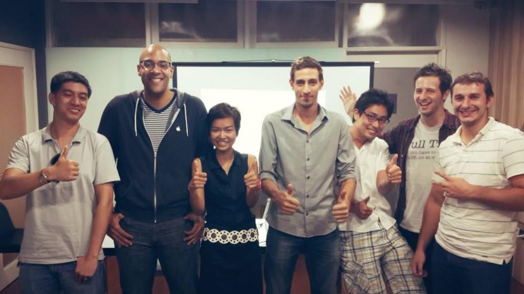A night at a Bangkok WordPress meetup with philip.